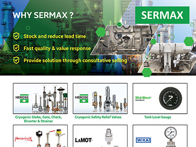 Sermax has been distributing the leading brands in the market for Cryogenic & Gas  industry since our inception.